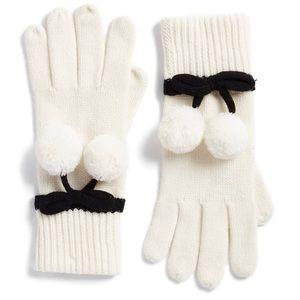 New - KateSpade pom pom gloves